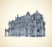 Odessa Theatre of Opera and Ballet, Ukraine. Vector sketch Royalty Free Stock Images