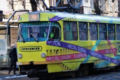 Odessa, Ucrânia Bonde tradicional de Odessa imagem de stock