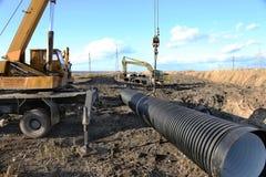 ODESSA, UCRÂNIA - 9 de novembro: Trabalhadores ucranianos na construção Imagem de Stock Royalty Free