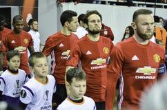 ODESSA, UCRAINA - 8 dicembre 2016: Fuori playe di Manchester United Immagini Stock