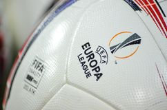 ODESSA, UCRAINA - 3 novembre 2016: Pallone da calcio ufficiale del Fotografia Stock Libera da Diritti