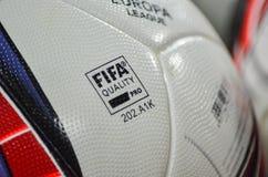 ODESSA, UCRAINA - 3 novembre 2016: Pallone da calcio ufficiale del Fotografie Stock