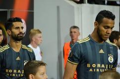 ODESSA, UCRAINA - 15 settembre 2016: I calciatori di Fenerbahce vanno Immagini Stock