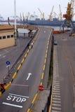 Odessa, Ucraina, strada in porta Fotografie Stock