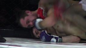 Odessa, Ucrania - 13 de diciembre de 2014: El deporte extremo mezcló judo del karate del boxeo de la competencia del Iron Fist 2  almacen de metraje de vídeo