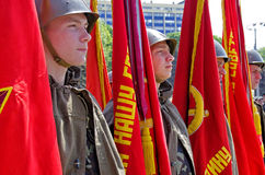 Odessa, Ucrania - 9 de mayo: Desfile Imagenes de archivo