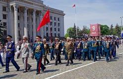 Odessa, Ucrania - 9 de mayo: Desfile. Victory Day Fotos de archivo