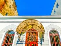 Odessa Ukraina - Jily 09, 2017: Yttersida av synagogan Beit Habad Royaltyfria Foton