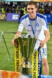 ODESSA UKRAINA, Lipiec, - 21, 2018: Denis Garmash z Super filiżanki trofeum Ukraina 2018 podczas finałów Ukraiński 2018 zdjęcie stock