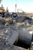ODESSA UKRAINA, Listopad, - 9: Ukraińscy pracownicy na budowie Fotografia Stock