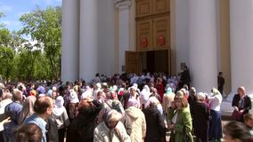 Odessa, Ukraine - April 23, 2014: Orthodox Christian believers Royalty Free Stock Image