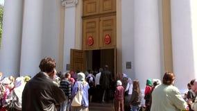 Odessa, Ukraine - April 23, 2014: Orthodox Christian believers Stock Photo