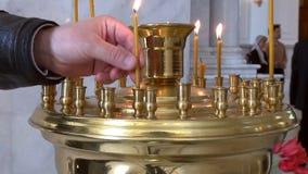 Odessa, Ukraine - April 23, 2014: Orthodox Christian believers stock footage