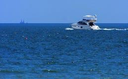 Odessa, Ukraine - August 08, 2018. Ship For Walks In Open Sea In Stock Photo