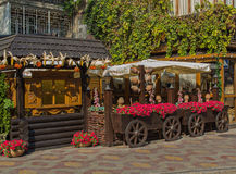 Odessa, Ukraine - August 28, 2015: Street cafes Royalty Free Stock Images