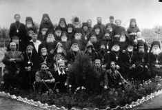 ODESSA, UKRAINE, circa 1950 - Vintage photos of high priests of Stock Images