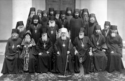 ODESSA, UKRAINE, circa 1950 - Vintage photos of high priests of Royalty Free Stock Photography