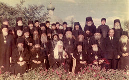 ODESSA, UKRAINE, circa 1950 - Vintage photos of high priests of Stock Image
