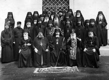 ODESSA, UKRAINE, circa 1950 - Vintage photos of high priests of Stock Photography