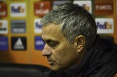 ODESSA, UKRAINE - 8 décembre 2016 : Entraîneur Jose Mourinho à des RP photo stock