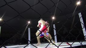 Odessa, Ukraine - 13 December 2014: Extreme Sport mixed martial arts tournament  Iron Fist 2 competition boxing karate judo stock footage