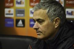 ODESSA, UKRAINE - 8. Dezember 2016: Trainer Jose Mourinho an einer PR stockfotografie