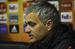 ODESSA, UKRAINE - 8. Dezember 2016: Trainer Jose Mourinho an einer PR stockfoto