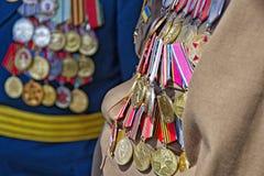 Odessa, Ukraine, die am 9. Mai Victory Day feiert Lizenzfreies Stockbild