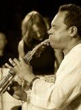 ODESSA, UKRAINE - 5 JUIN : saxophoniste Hernan Jay R Photo libre de droits