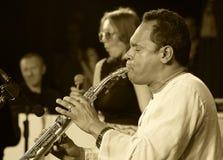 ODESSA, UKRAINE - 5 JUIN : saxophoniste Hernan Jay Rodriguez (Etats-Unis, Image stock