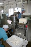 Odessa, Ukraine - July 7, 2007: The factory for the production o. F food from natural Ingredients. Food Convenience food. Production of dumplings, pancakes stock images