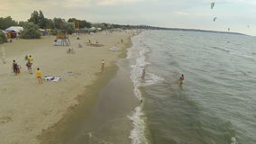 ODESSA, UKRAINE - July 09, 2016: View of the sea with waves from a height stock video footage