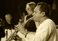 ODESSA, UKRAINE - JUNE 5: saxophonist Hernan Jay Rodriguez (USA, Stock Image