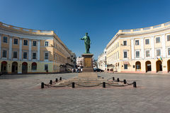 Odessa ukraine. Odessa landmark ukraine statue richelieu Stock Photo