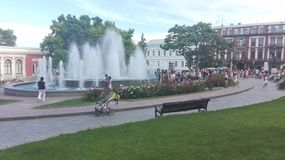 Odessa, Ukraine. A look to some main square, park, city garden. stock images