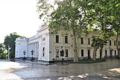 Odessa, Ukraine. A look to some main square, park, city garden. royalty free stock images