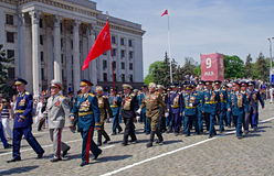 Odessa, Ukraine - 9 mai : Défilé. Victory Day Photos stock