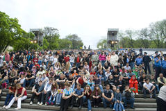 ODESSA, UKRAINE  -  MAY 9: Concert for a VE day Stock Photography