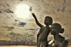 odessa ukraine Monument till frun för sjöman` s arkivfoton