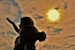 odessa ukraine Monument till frun för sjöman` s royaltyfri bild