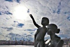odessa ukraine Monument till frun för sjöman` s royaltyfria bilder