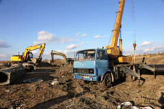 ODESSA, UKRAINE - November 9: Ukrainian workers on construction Royalty Free Stock Photography