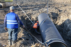 ODESSA, UKRAINE - November 9: Ukrainian workers on construction Stock Photo