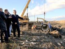 ODESSA, UKRAINE - November 9: Ukrainian workers on construction Royalty Free Stock Photo