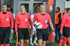 ODESSA, UKRAINE - 3 novembre 2016 : Arbitre en chef du match Photo libre de droits