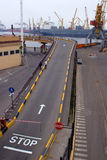 Odessa, Ukraine, Road in Port Stock Photos
