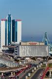 Odessa, Ukraine Seeanschluß und Hotel Odessa Ansicht von Primorsky-Boulevard lizenzfreie stockbilder