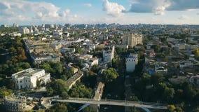 Odessa Ukraine-stadscentrum Vorontsovpaleis en Teshin-brug Oost-Europa Luchthommel videolengte stock footage