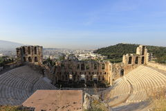 Odeum antico dell'acropoli, Atene, Grecia Fotografia Stock