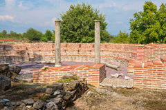 Odeum. Archaeological Park of Dion, Greece Royalty Free Stock Photography